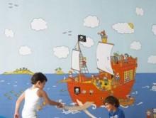Korsan Desenli Çocuk Duvar Kağıdı | Duvar Kağıdı